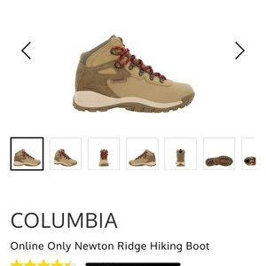 Columbia hiking boots size 9